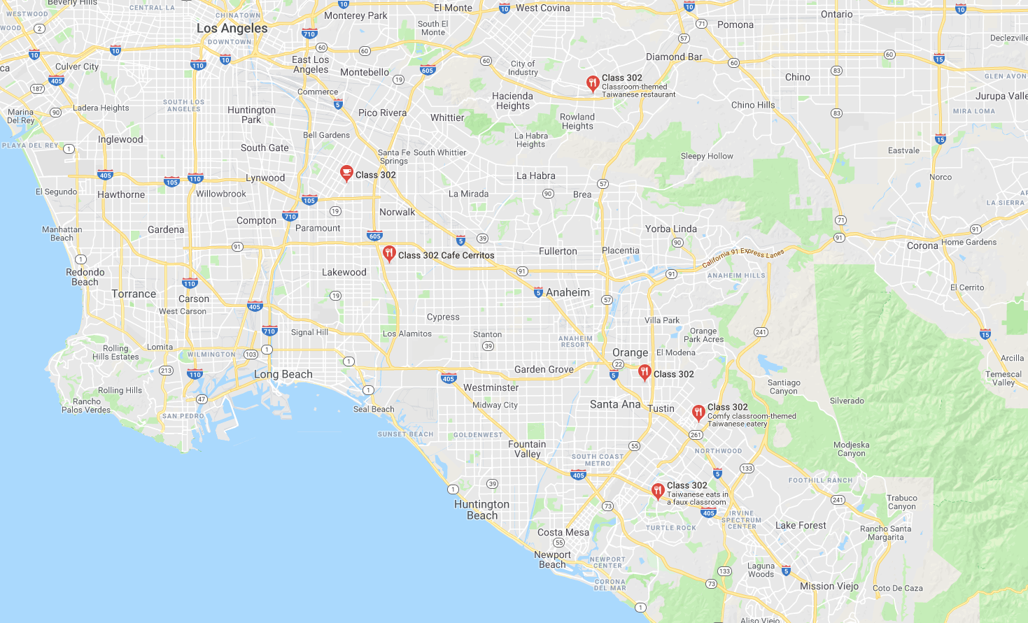 class 302 locations
